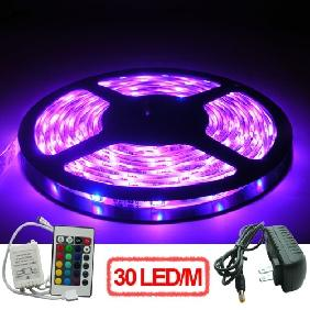 5M 5050/5060 SMD RGB LED Light Strip + Controller + Power Supply