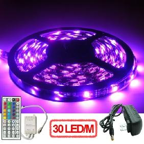500cm 5050/5060 RGB SMD LED Light Strip Power Supply Ready to Use