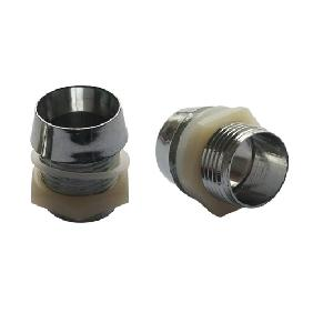 10mm LED Mount Holder Chromed with Spring Washer, Nut and Plastic Cup