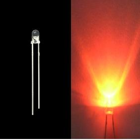 3mm 5000mcd Orange LED Lamp Light Bulb