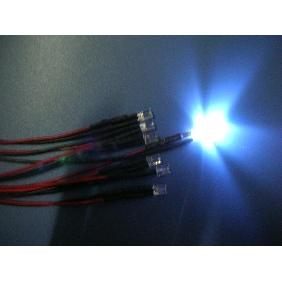 5mm White Wide Angle Flat Top Led Pre Wired 12VDC