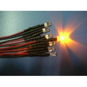 5mm Yellow Wide Angle Flat Top Led Pre Wired 12VDC