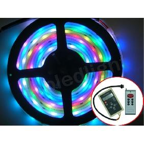 5M 6803-IC 5050 SMD RGB Dream Color LED Strip Light + 133 Effects RF Controller