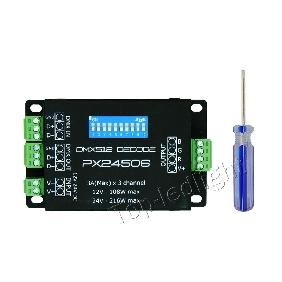 PX24506 DMX512/199​0 Decoder Controller 3 Channels for RGB...