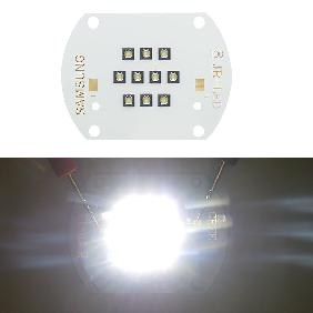 30W SAMSUNG LED Copper Board White Light 6000lm View Angle 124 Degree