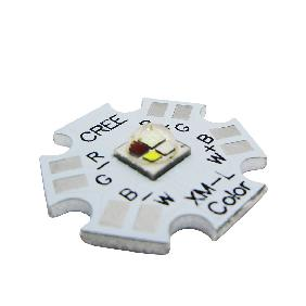 Cree XLamp XM-L RGBW RGB White Color LED Emitter 4-Chip 20mm Star PCB Board